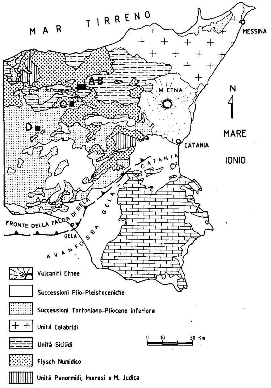 Cartina Geografica Sicilia Sud Orientale.Geologia Sicilia Orientale Sicilia